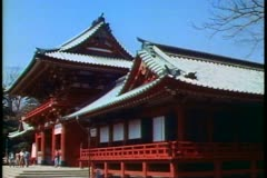 Shinto Shrine in Kamakura outside of Tokyo in Japan, - stock footage