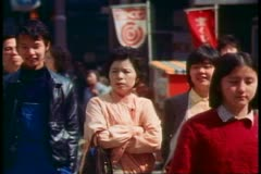 The Ginza, the main street of and shopping district of Tokyo, 1982 Stock Footage