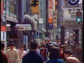 Stock Video Footage of The Ginza, the main street of and shopping district of Tokyo, 1982