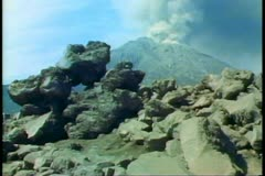 The Sakurajima Volcano erupting at Kagoshima, Japan, on the island of Kyushu Stock Footage