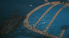 Water drops on the floor Stock Footage
