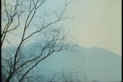 A misty late winter scene of South Korea near Pusan Stock Footage