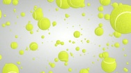 3D tennis ball particles 01 Stock Footage