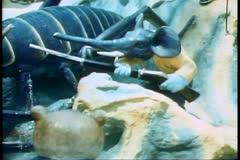 Tiger Balm Gardens of Singapore, mythological figures, elephant with a rifle Stock Footage