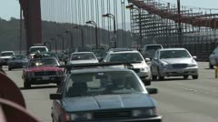 Golden Gate Bridge Traffic - stock footage