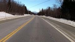 Fast car ride to ski mountain - stock footage