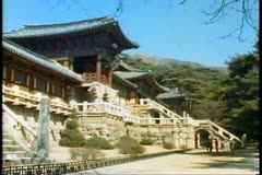 The Buddha Land Temple of Bulguska in South Korea near Pusan Stock Footage