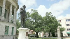Merrick Statue Coral Gables Stock Footage