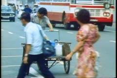 Singapore Pedi cab Stock Footage