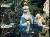 Stock Video Footage of Tiger Balm Gardens of Singapore, mythological figures, old man figure