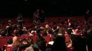 Auditorium Live - Crowd at pop Concert Stock Footage