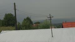 Electricity pylon Stock Footage