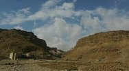 Stock Video Footage of Masada clouds