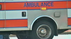 Ambulance close up Stock Footage