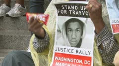 Stock Video Footage of Trayvon Martin protest-rally in Washington, D.C.