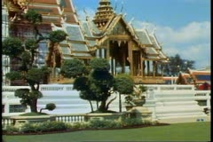 Stock Video Footage of The Royal Palace of Bangkok, one temple of the complex