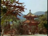 Stock Video Footage of The New Territories, Hong Kong, a temple and pagoda