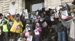 Trayvon Martin protest-rally in Washington, D.C. Stock Footage