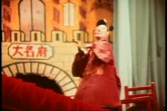 Stock Video Footage of Hong Kong cultural show, stick puppet show