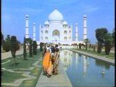 The Taj Mahal, Agra, India, front shot with people walking toward Stock Footage