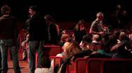 Auditorium Live - Crowd at pop Concert Stock Footage