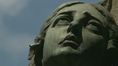 Cemetery statue (2 clips) in Rome (four) Stock Footage