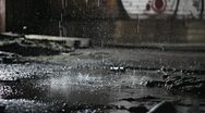 Stock Video Footage of water drops on concrete 3