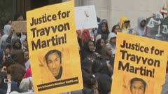 Trayvon Martin protest-rally in Washington, D.C. Stock Footage