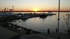 Stock Video Footage of National Harbor @ Sunset   Maryland