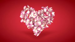 flying rose petals transition - stock footage