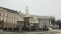 Mikhailovsky Square in Kiev Stock Footage