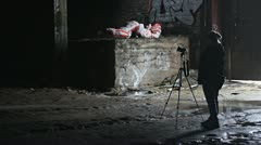 Urban Explorer Stock Footage