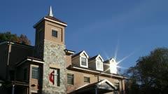 Methodist Church on Hilltop - stock footage