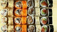Sushi set - stock footage