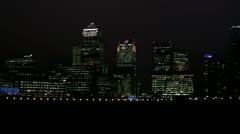 Canary Wharf blackout - stock footage