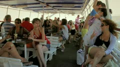 People on a boat Stock Footage