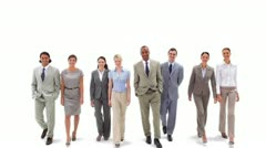 Business team walking - stock footage