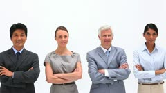 Business people with arms crossed Stock Footage