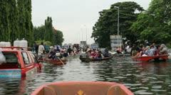 Thailand Flood Ayutthaya 9909 3rd Stock Footage