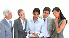 Business team working together Stock Footage