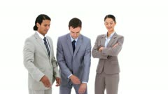 Business people with their arms crossed Stock Footage