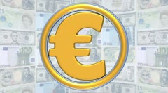 Currency symbols_02 Stock Footage