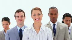 Close-up of business people applauding Stock Footage