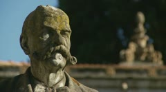 Cemetery statue (one) Stock Footage