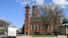 Smithsonian Institution Establishing shot Stock Footage
