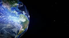 Globe and illuminated abstract atmosphere 6 Stock Footage