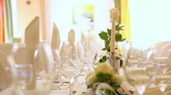 Wedding Banquet Stock Footage