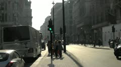 London Evening Silhouette looking down Piccadilly Stock Footage