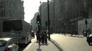 Stock Video Footage of London Evening Silhouette looking down Piccadilly