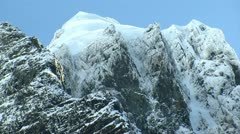 Icy mountain peaks Stock Footage